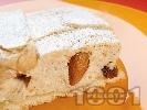 Рецепта Изварена кростата (слакиш) с рикота, стафиди и бадеми